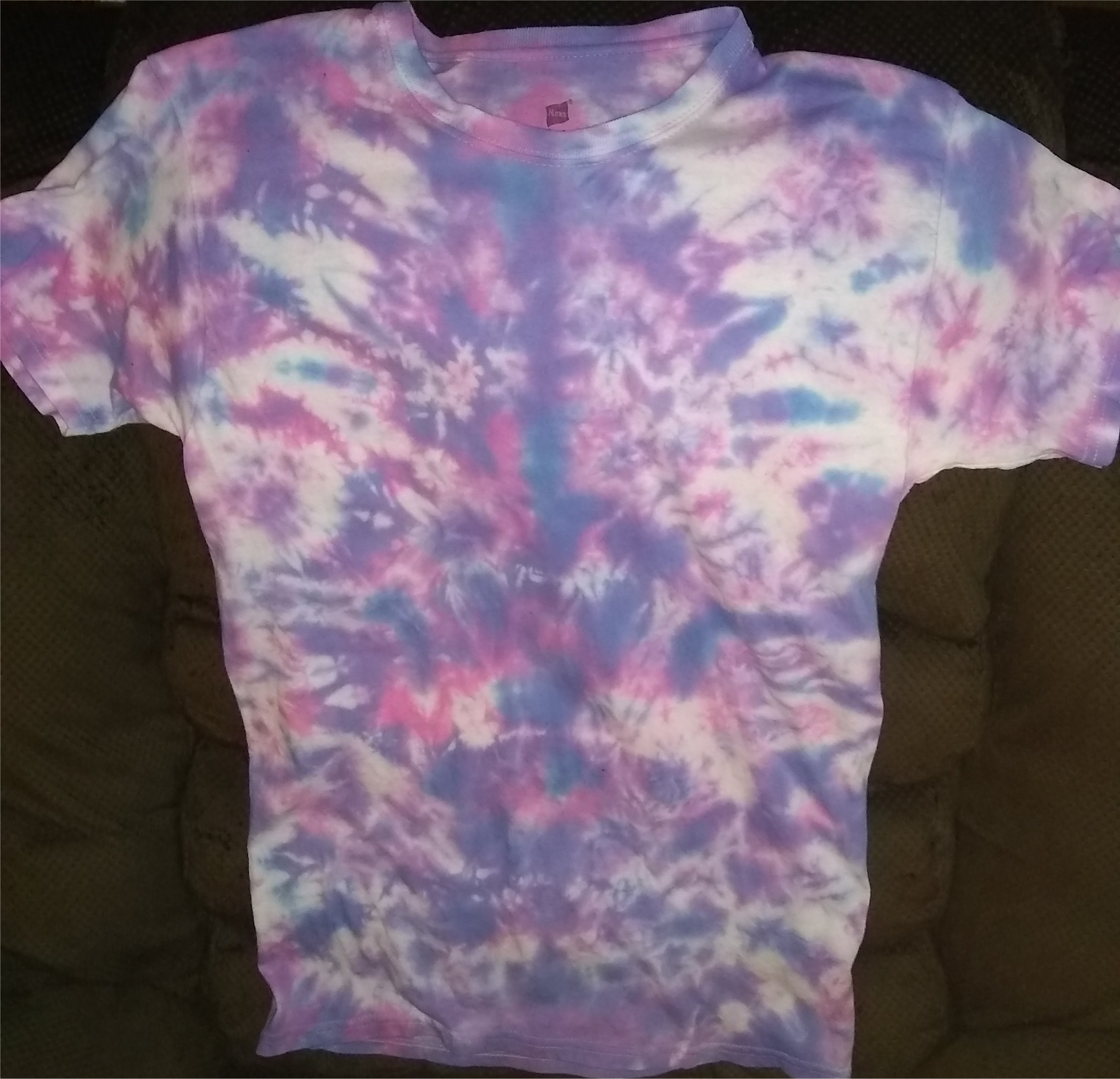 Cotton Candy Ice Dye T Shirt Size: S