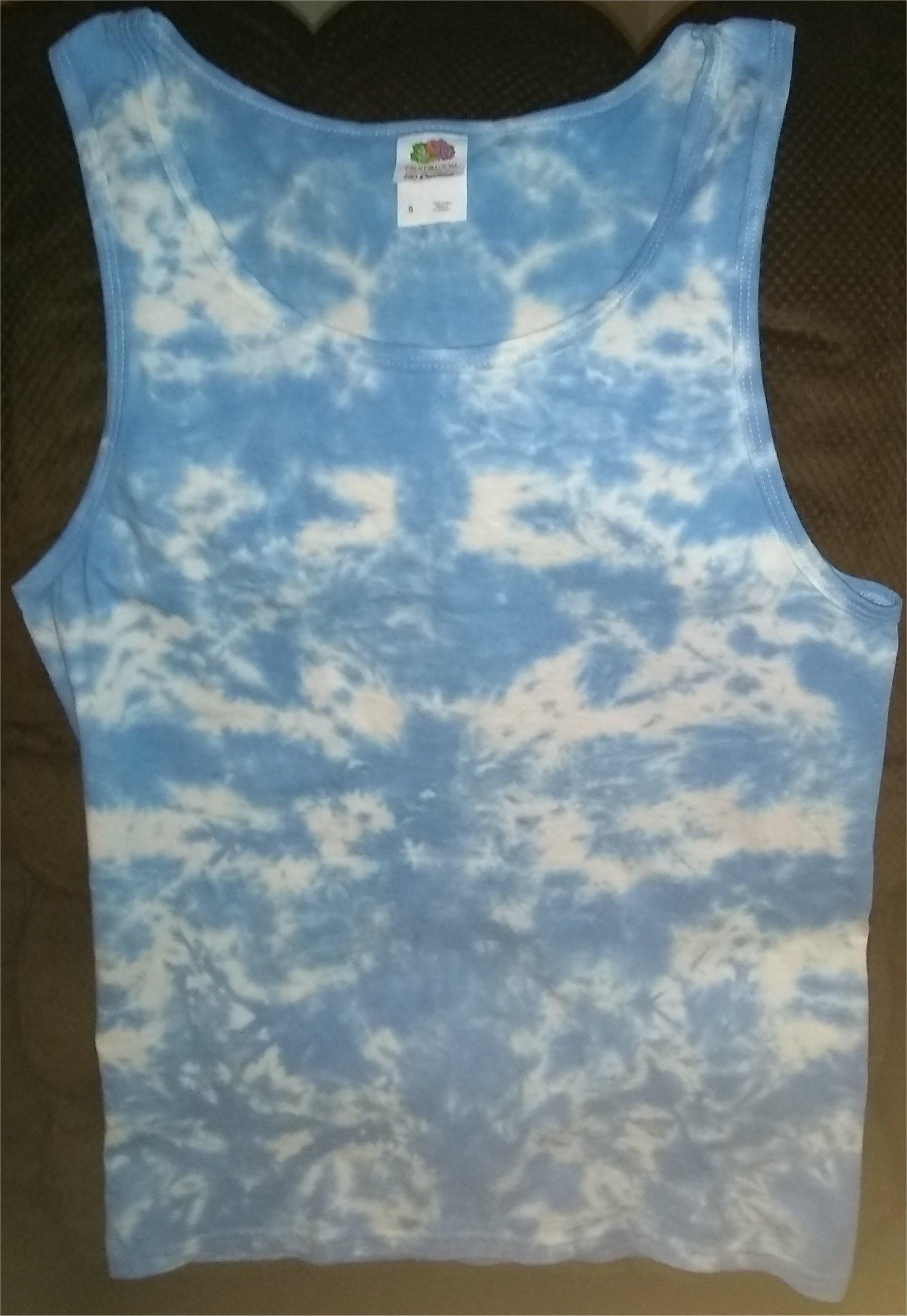 Electric Clouds Tie Dye Tank Top Size: S