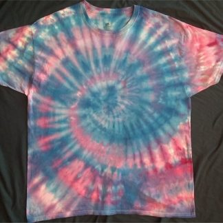 Spiral Ice Dye T Shirt Size XL