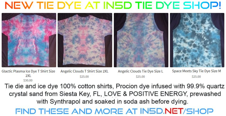 Today's New Tie Dye Shirts, NEW XXL's Too!