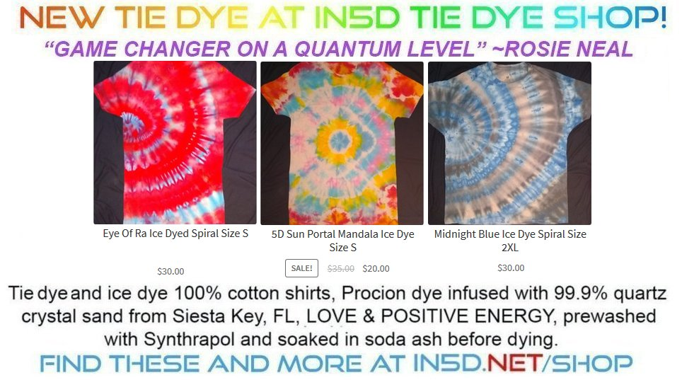 New Quantum Tie Dye Shirts August 30, 2019