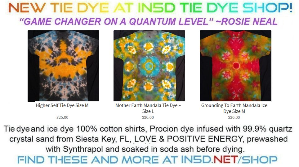 Our Newest Quantum Tie Dye Shirts! August 29, 2019