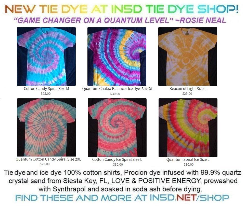 New Quantum Tie Dye Shirts
