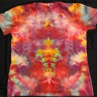 Ascension Ice Dye Ladies V Neck Size L