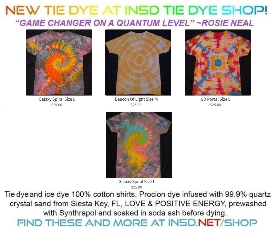 New Quantum Tie Dye Shirts November 28, 2019