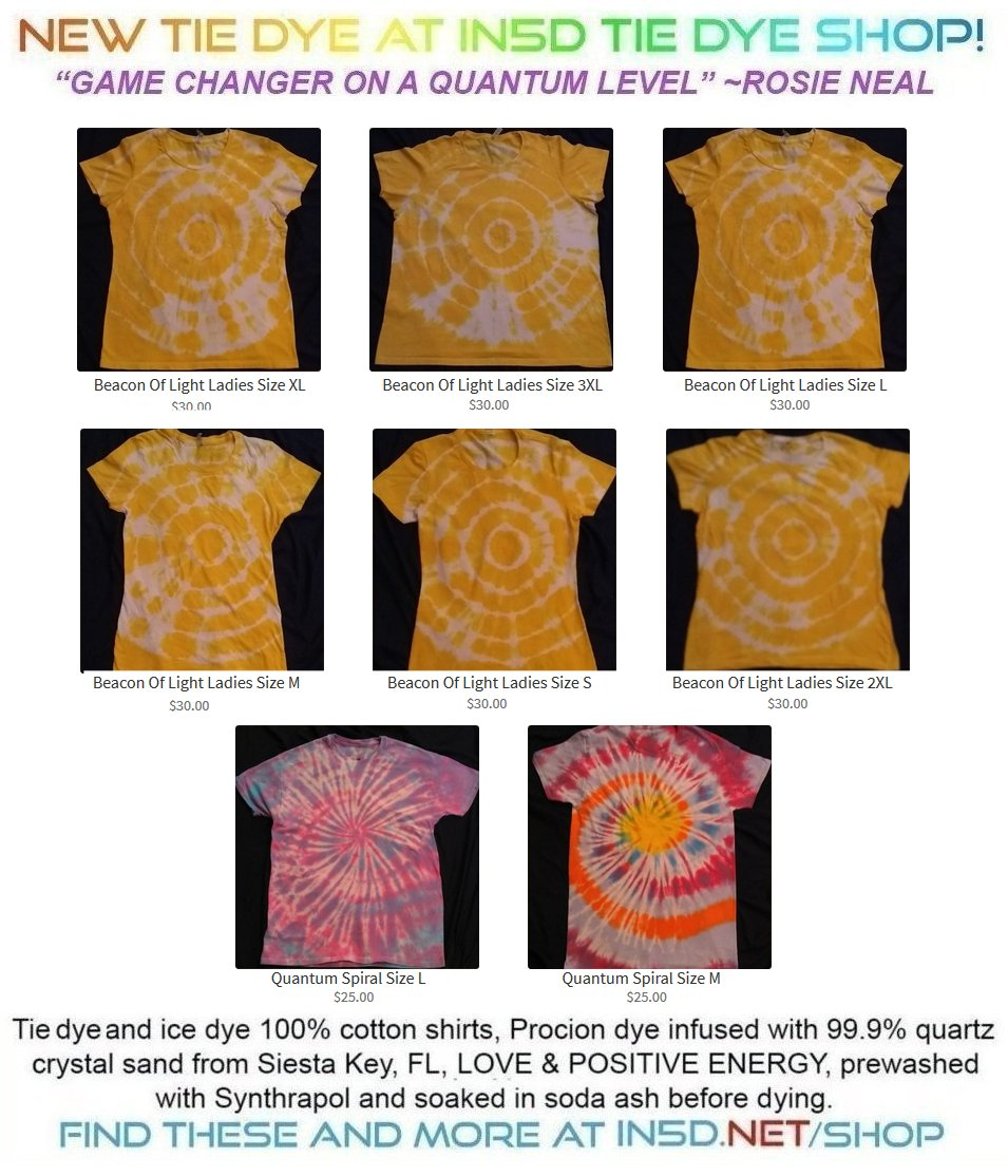 New Quantum Tie Dye Shirts December 7, 2019