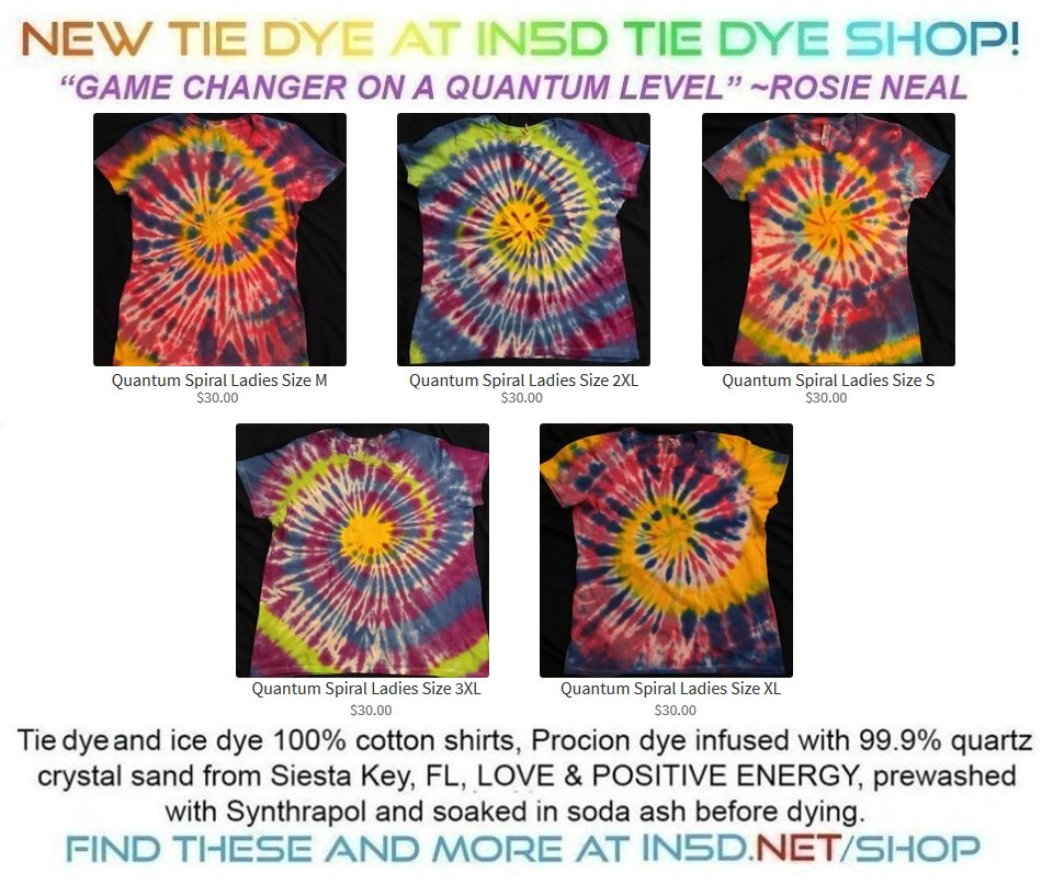 New Quantum Tie Dye Shirts December 5, 2019