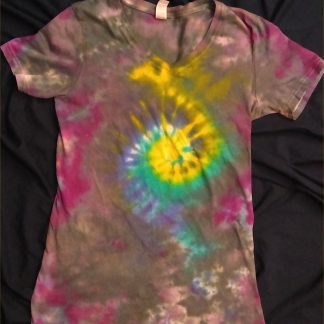 Galaxy Spiral Ladies V Neck M