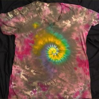 Galaxy Spiral Ladies V Neck 2XL
