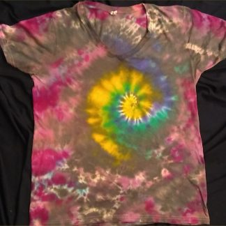 Galaxy Spiral Ladies V Neck L