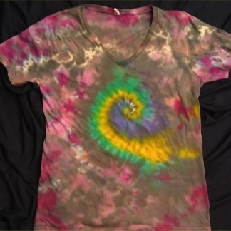 Galaxy Spiral Ladies V Neck XL