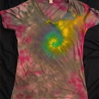 Galaxy Spiral Ladies V Neck S