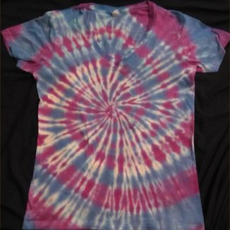 Cosmic Spiral Ladies V Neck Size S