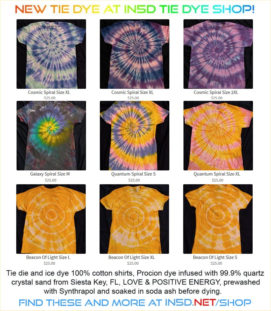New Quantum Tie Dye Shirts February 21, 2020