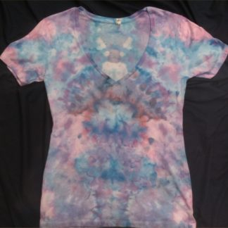 Cosmic Spiral Ladies V Neck Size 2XL