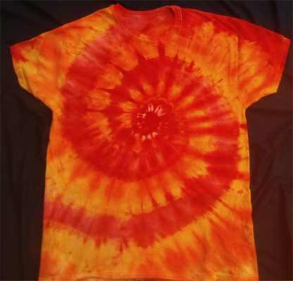 FIRE Element Lower Grounding Chakras Ice Dye Size L