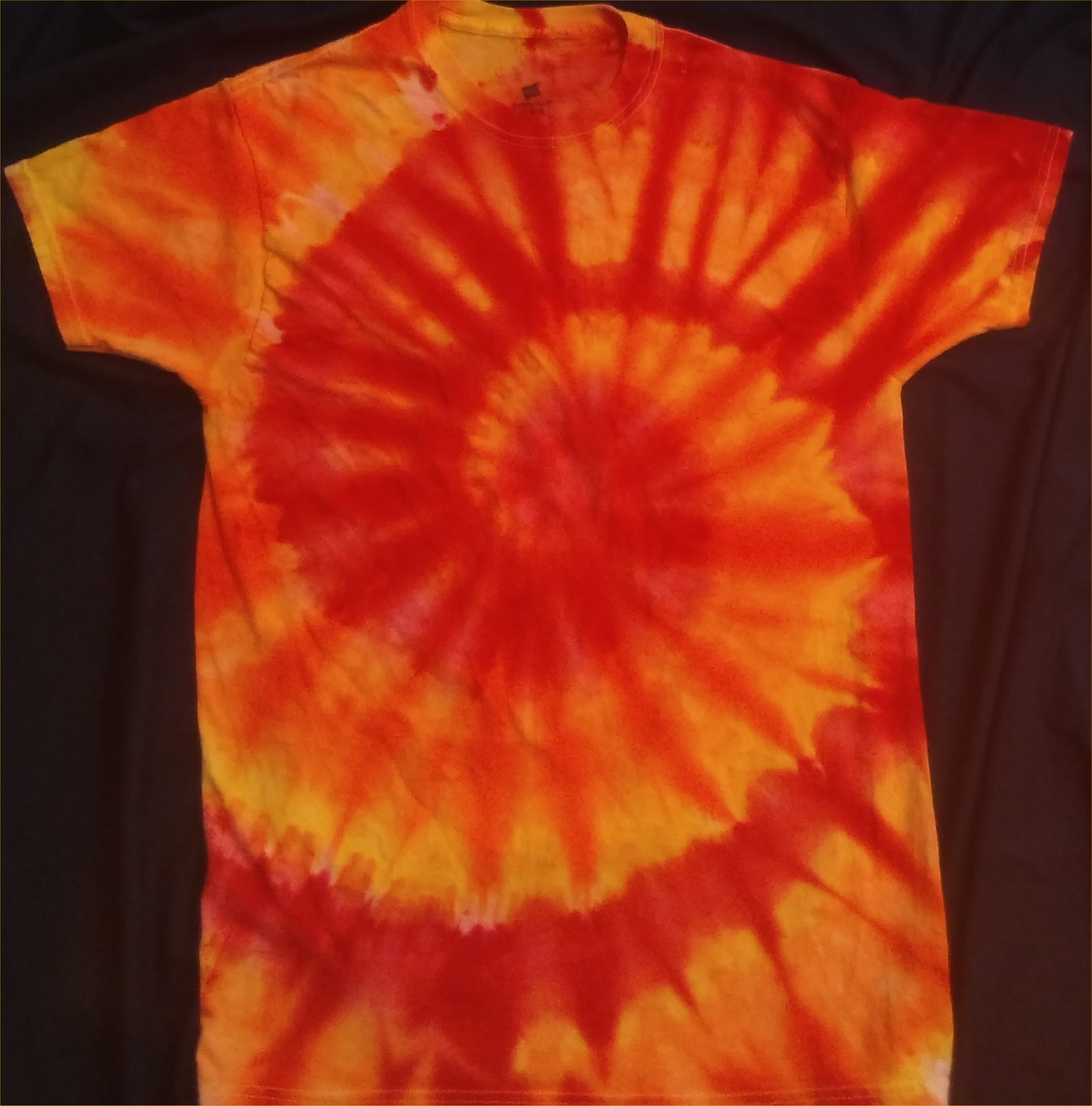 FIRE Element Lower Grounding Chakras Ice Dye Size M