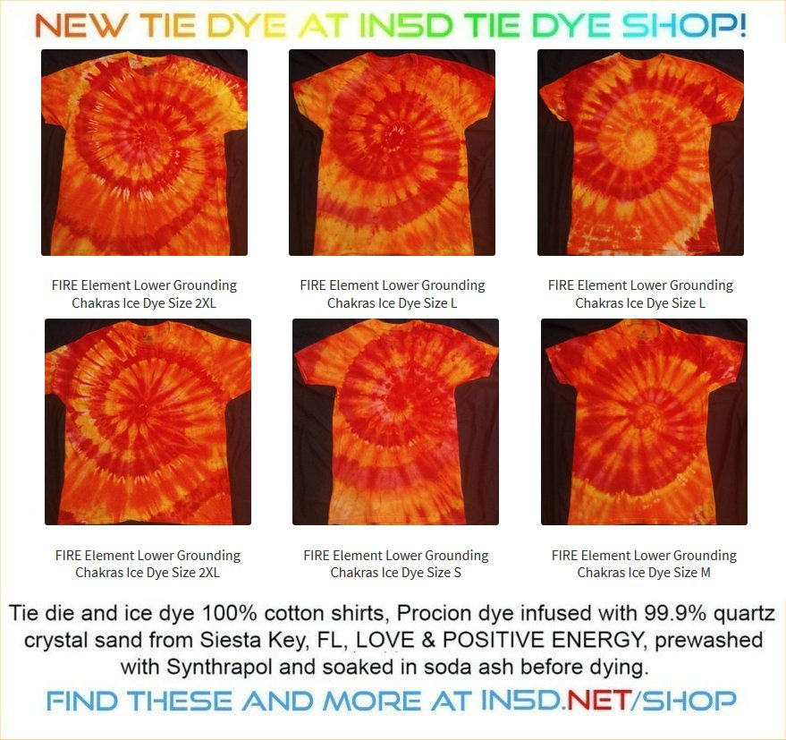 NEW FIRE ELEMENT ICE DYED Shirts