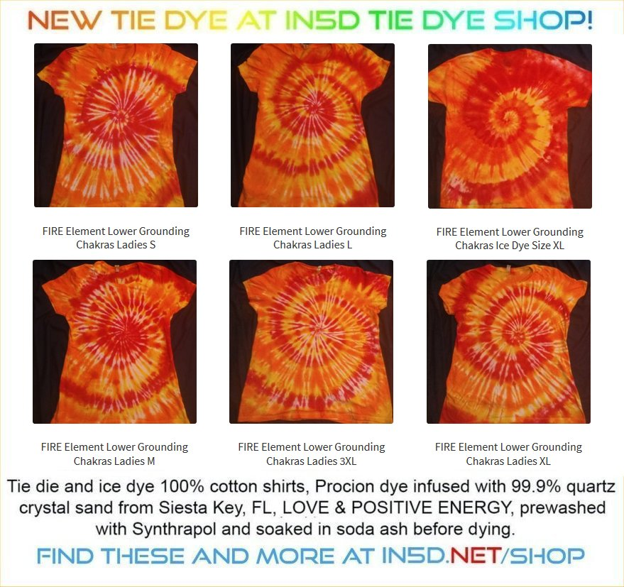 NEW! FIRE ELEMENT Quantum Tie Dye shirts