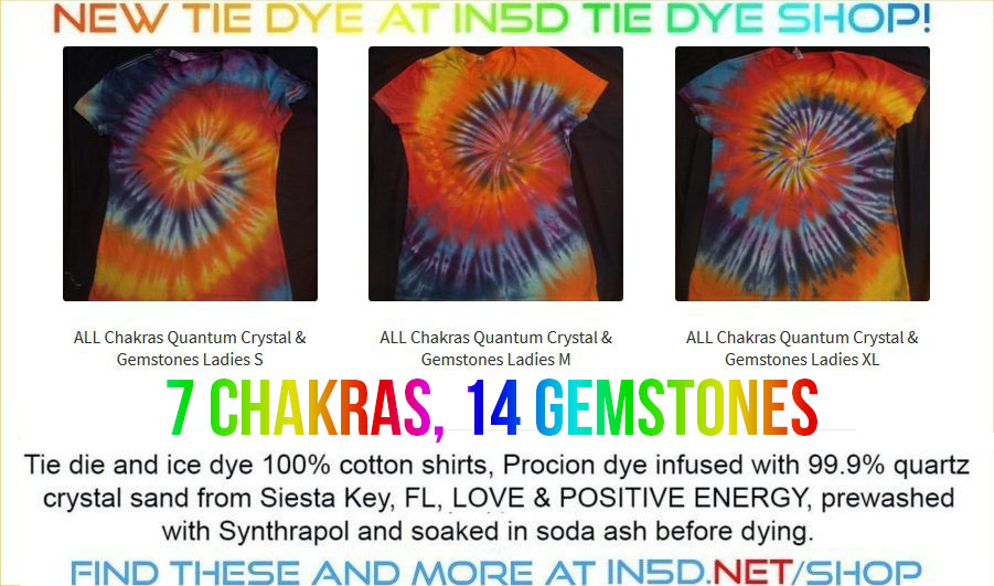 NEW LADIES 7 Chakra Quantum Tie Dye Shirts