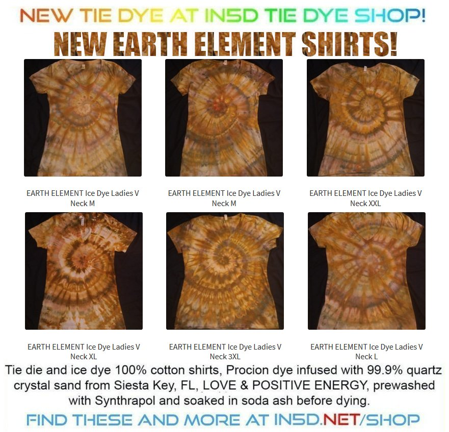 NEW EARTH ELEMENT V Neck Ladies Quantum Tie Dye Shirts