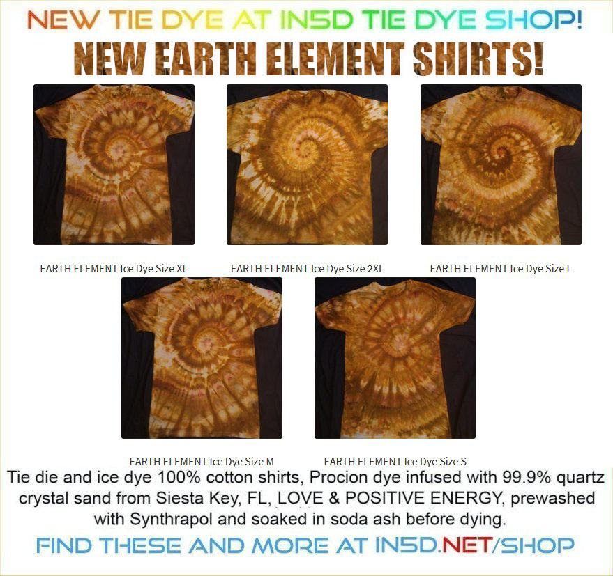 "OUR Latest ""Earth Element Ice Dye"" shirts are STUNNING!!!"