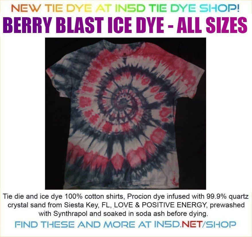 NEW BERRY BLAST Quantum Tie Dye ICE DYED