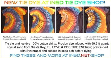 NEW Ladies V Neck Fitted 7 Chakra Crystals & Gemstones Quantum Tie Dye Shirts