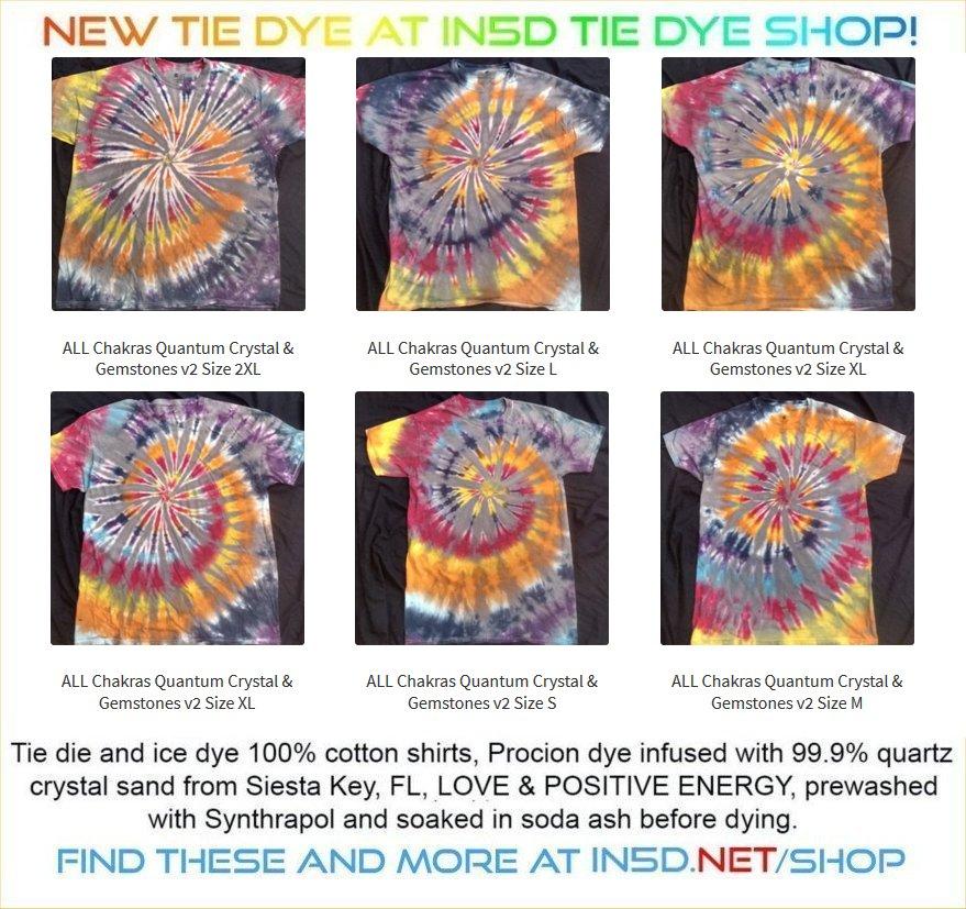 NEW 7 Chakra & Gemstone Quantum Tie Dye Shirts!