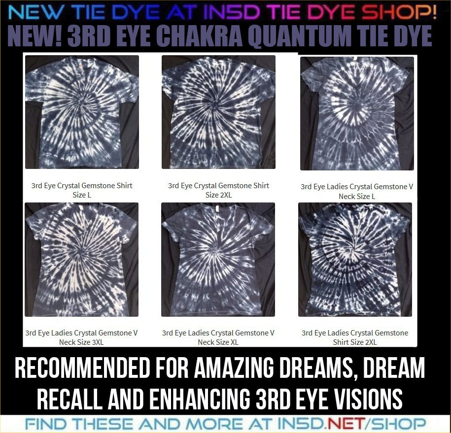 NEW! Ladies and Mens 3rd Eye Chakra Shirts, ALL Sizes!