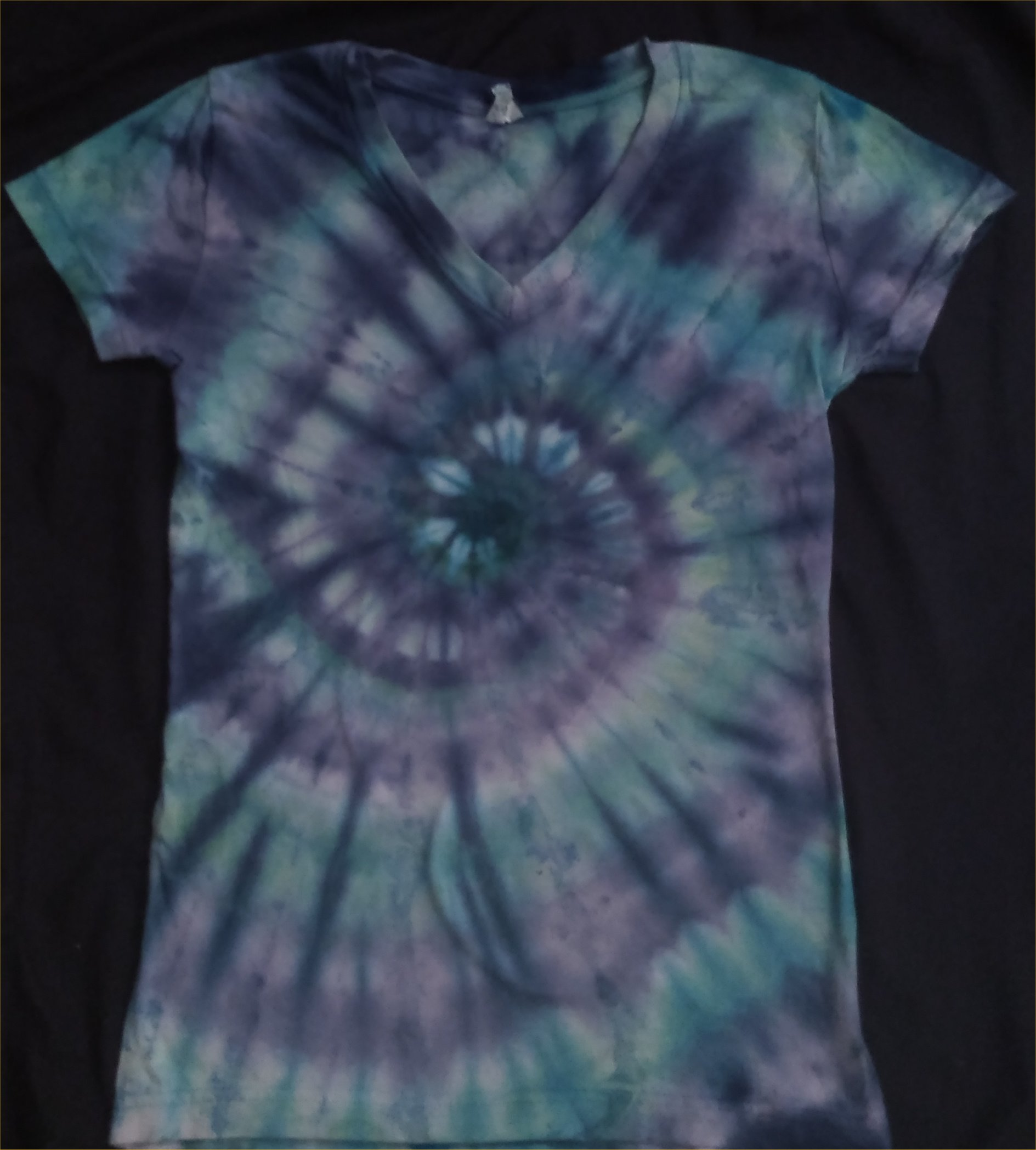 Water Element ICE DYE Ladies V Neck S