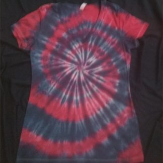 Cosmic Spiral Ladies V Neck Size L