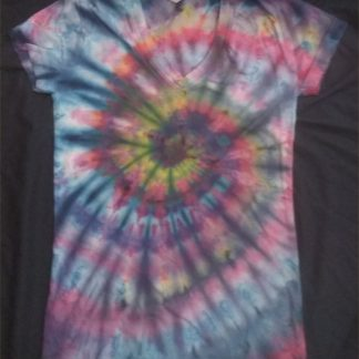 AIR ELEMENT SUNSET II Ladies V Neck Ice Dye S