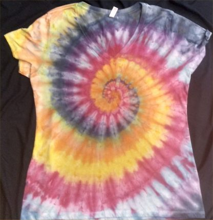 ALL Chakras V Neck Quantum ICE DYED Ladies 3XL