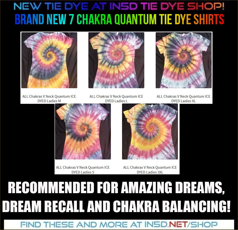 NEW LADIES V NECK 7 CHAKRA ICE DYED Shirts!