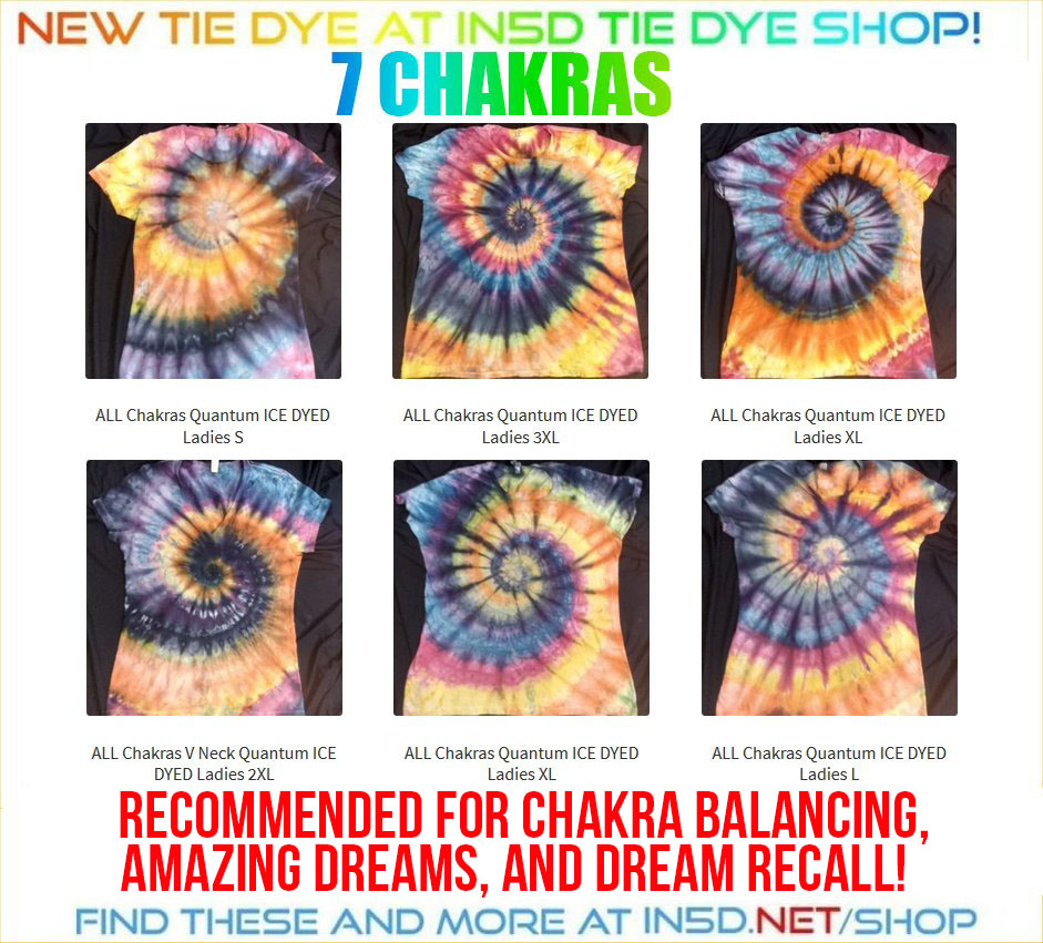 NEW! Ladies 7 Chakra ICE DYED shirts, all sizes!