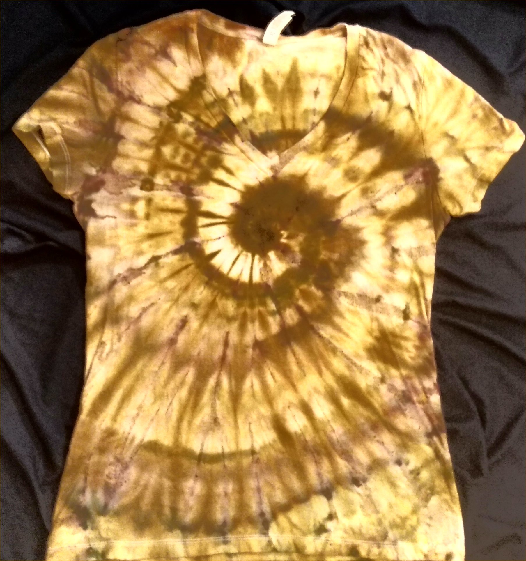 EARTH ELEMENT Ice Dye Ladies V Neck 2XL