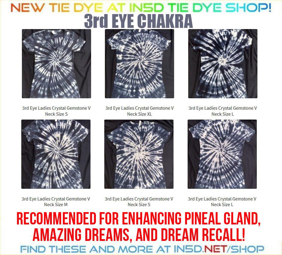 NEW 3rd Eye Chakra Quantum Tie Dye Shirts