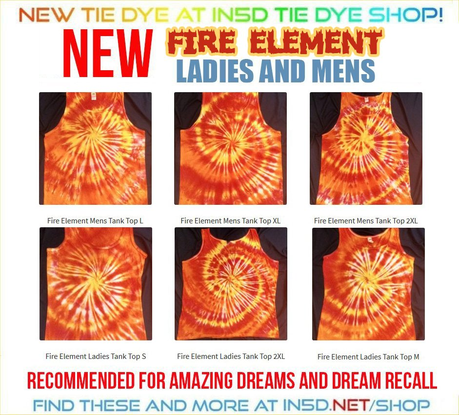 NEW Ladies and Mens FIRE ELEMENT Tank Tops