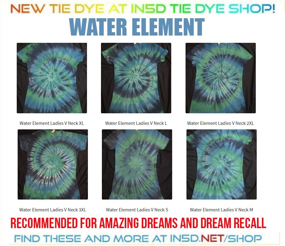 NEW Ladies V Neck Water Element Tie Dye Shirts