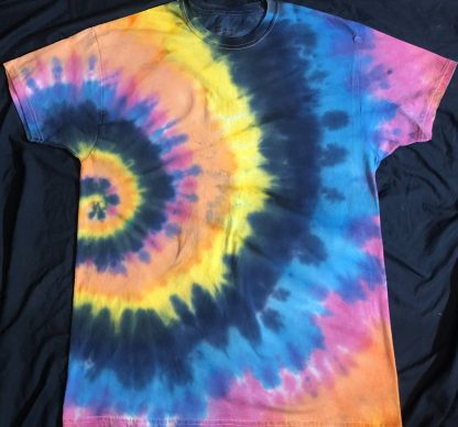 ALL Chakras Quantum Crystal & Gemstones T Side Spiral Shirt L