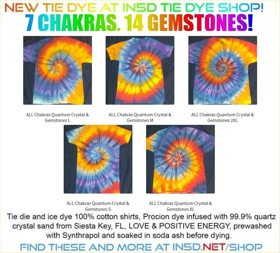 NEW 7 Chakra 14 Gemstone Quantum Tie Dye Shirts!