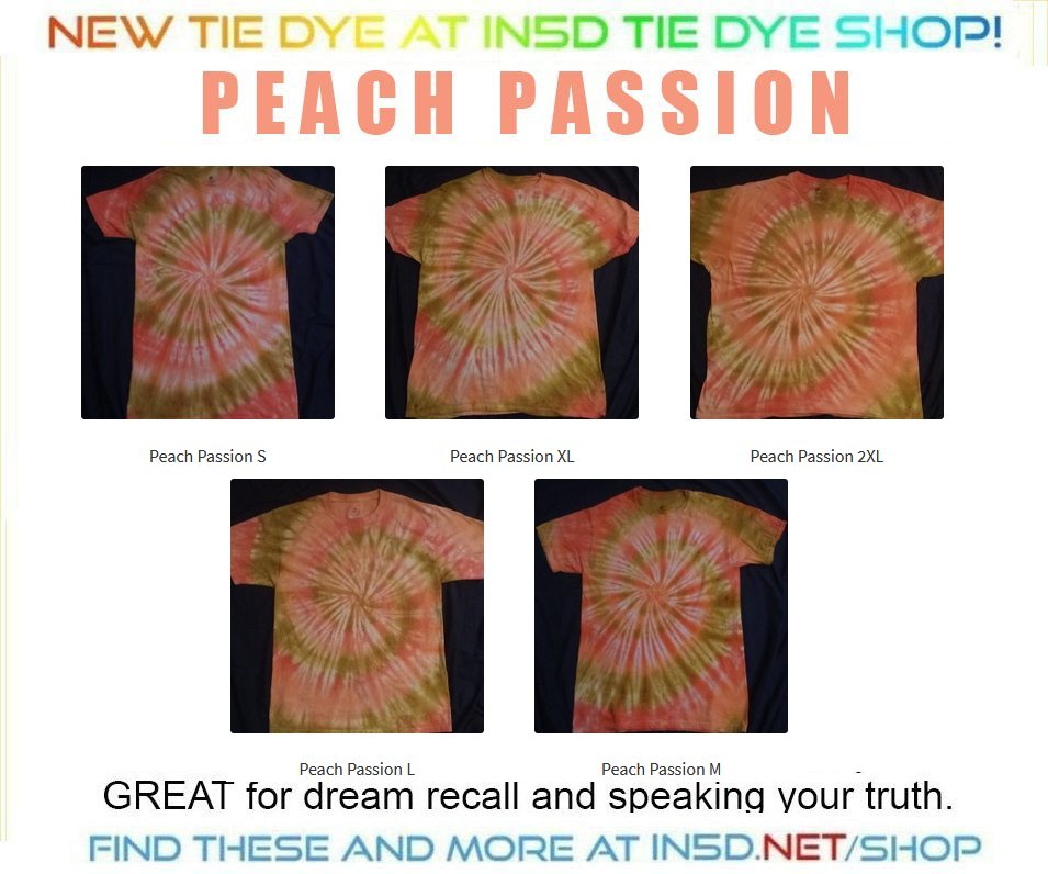 NEW! Peach Passion Quantum Tie Dye Shirts