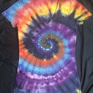 ALL Chakras V Neck Quantum ICE DYED Ladies Slim Fit S